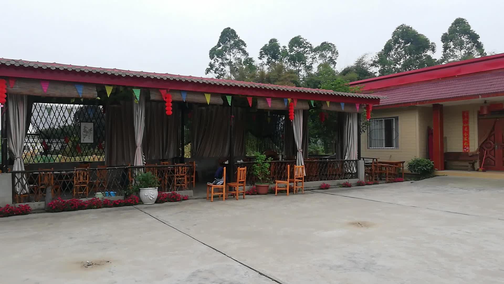 苏坪村古儿坝小型农家乐的美景